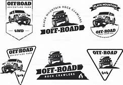 Set Of Classic Offroad Suv Car Emblems Badges And Icons