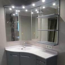 meuble de salle de bain d angle avec vasque miroir avec rangement atlantic bain