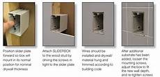 sliderbox 174 adjustable wall box assemblies allied moulded