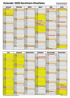 kalender 2020 nrw pdf