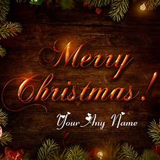 write name merry christmas wishes greeting card edit photo