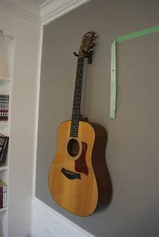wall mount guitar holder my house my canvas diy wall mount guitar holder