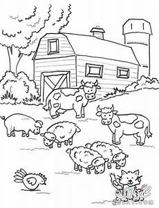 coloring pages 17619 رسومات حيوانات الحديقه مع حيوانات المزرعه للتلويين