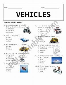 vehicles free worksheets 15173 vehicles esl worksheet by rhae