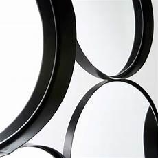 Runde Spiegel Aus Schwarzem Metall 121x66cm Douala