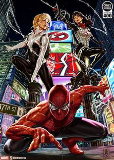 marvel spider verse print by sideshow collectibles