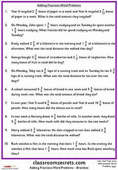word problems worksheets ks3 11067 addition word problems math in 2020 fraction word problems word problems addition word problems