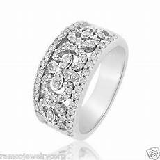 wide womens diamond wedding bands ebay