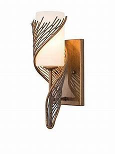 varaluz flow 1 light wall sconce hammered ore white opal