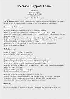 resume sles technical support resume sle