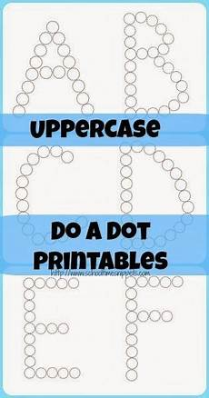 free uppercase letters do a dot printables do a dot preschool letters preschool learning