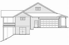 sloped lot house plans country house plans tumalo 30 996 associated designs