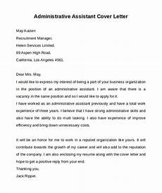 free 9 administrative assistant cover letters in ms word pdf