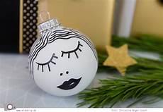 Weihnachtsdeko Diy Weihnachtskugeln Selbst Bemalen