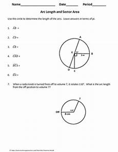 geometry worksheets area of sectors 843 geometry worksheet arc length and sector area by my geometry world