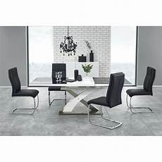 Table Salle A Manger Design Table A Manger Design Noir Et Blanc Avec Rallonge Cesar So Inside