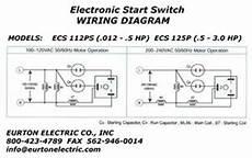 electronic motor start switch ecs125p