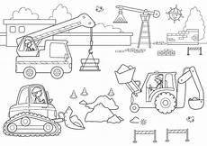 Malvorlagen Baustelle Ausdrucken Ausmalbild Transportmittel Kostenlose Malvorlage Auf Der