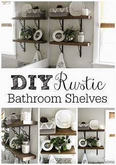 bathroom shelves decorating ideas grace cottage diy rustic bathroom shelves
