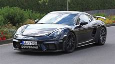 2019 porsche 718 cayman gt4 spotted almost free of camouflage