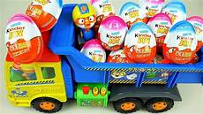 Kinder Eggs And Pororo Truck Toys