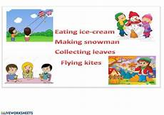 changing seasons worksheets 14779 changing seasons interactive worksheet