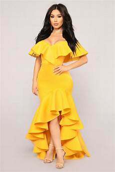 miss you more mermaid dress yellow