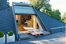 Terrasse Im Dach - innovative dachfenster wintergarten