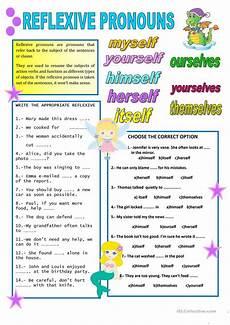 reflexive pronouns worksheet free esl printable worksheets made by teachers
