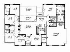 5 bedroom house plans 1 story floor plan 5 bedrooms single story five bedroom tudor in
