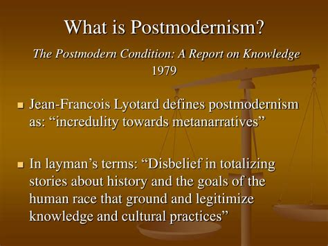 The Postmodern Condition