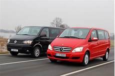 Vergleich Der Vw T5 Multivan Trifft Auf Den Mercedes