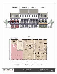 tnd house plans the lamar ii live work unit 675 sf flex space 3 br 2 1