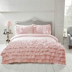 Pink And White Duvet Covers by Flamenco Ruffle Duvet Cover Set Bedding Grey Pink White