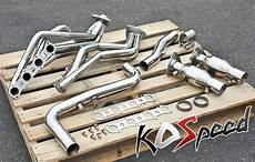 stainless steel header downpipe exhaust kit 99 04 ford f