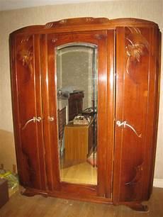 Armoire Ancienne 2 Portes Avec Miroir Le Specialiste Du