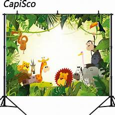 Animal Happy Birthday Photography Background Cloth by Capisco Jungle Safari Photo Background Animals