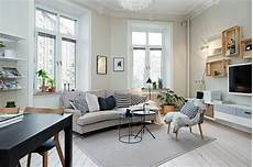 skandinavisch einrichten kleines wohnzimmer mit zwei