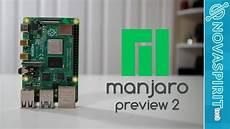manjaro raspberry pi 4 hardware acceleration manjaro arm preview2 for raspberry pi 4 youtube