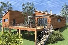 maison sur piloti maison monopente contemporaine en bois sur pilotis de type