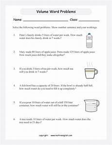 volume word problems worksheets with answers 11170 printable primary math worksheet for math grades 1 to 6 based on the singapore math curriculum