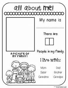 all about me worksheets a teaching all about me where i live preschool family theme
