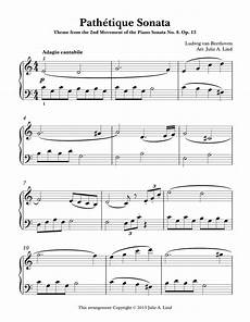 a simplified easy version of beethoven s pathetique sonata 2nd movement of the piano sonata
