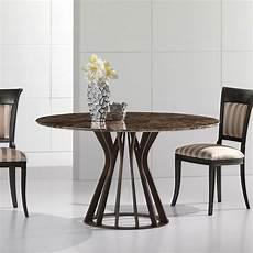 table de salle 224 manger ronde en marbre avec base bronze