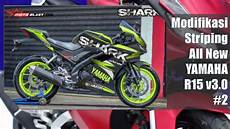 Yamaha R15 V3 Modifikasi by 2 Modifikasi Striping All New Yamaha R15 V3 0 By