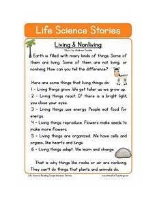 second grade reading comprehension worksheet life