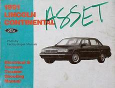 electric and cars manual 1994 lincoln continental on board diagnostic system 1991 lincoln continental electrical vacuum troubleshooting manual original evtm ebay