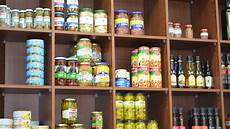 food on a shop shelf wallpaper and background image