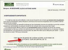 releve d information integral comment consulter le solde des points restant sur permis