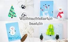 weihnachtskarten basteln mit kindern 5 schnelle ideen